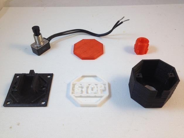 紧急按钮 3D模型  图4