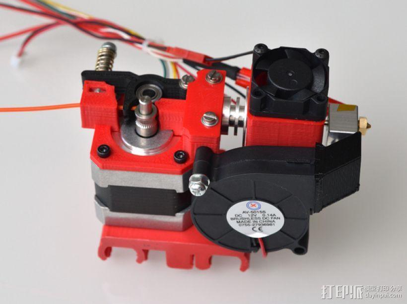 定制化Prusa i3 3D打印机挤出机 3D模型  图4