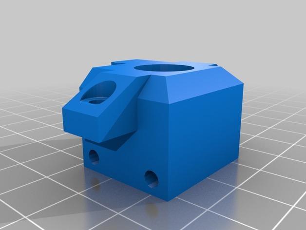 Prusa i3 3D打印机双挤出机 3D模型  图2