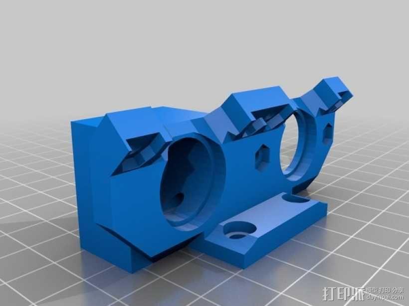 Prusa i3 3D打印机双挤出机 3D模型  图4