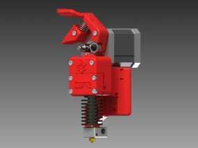 3D直接驱动挤出机 3D模型