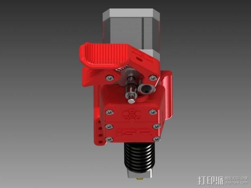 3D直接驱动挤出机 3D模型  图8