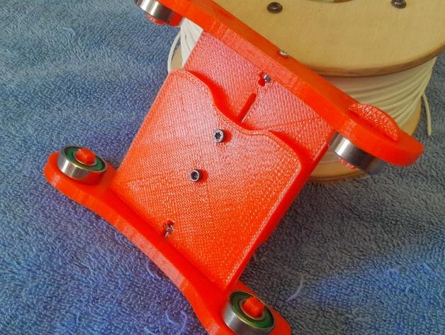 卷线轴 托垫 3D模型  图1