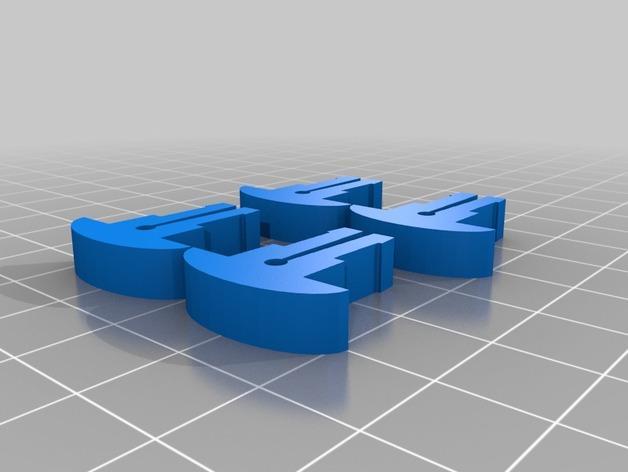 卷线轴 托垫 3D模型  图3