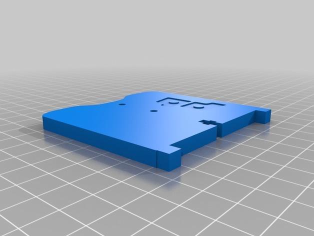 卷线轴 托垫 3D模型  图2