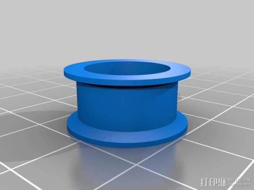 Prusa i3 3D打印机Y轴桥齿轮 3D模型  图2