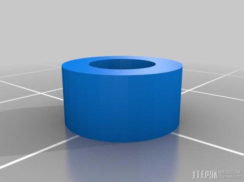 Prusa i3 3D打印机Y轴桥齿轮 3D模型  图3