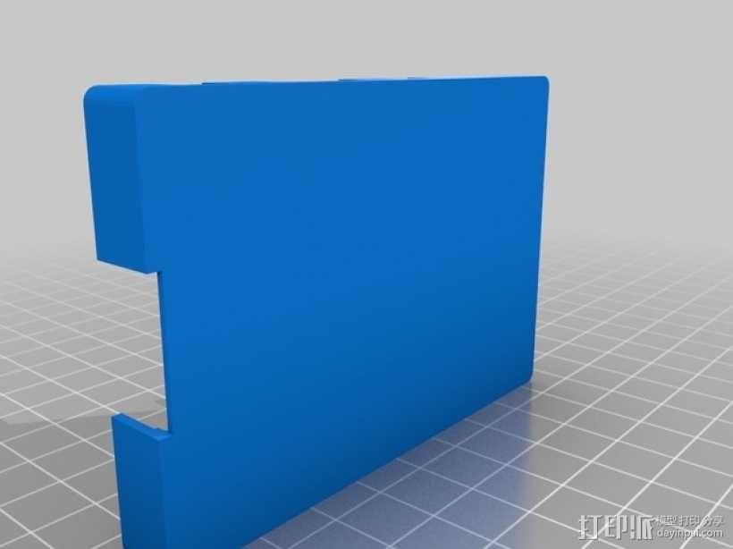 RasPi B+电路装置外壳 3D模型  图4