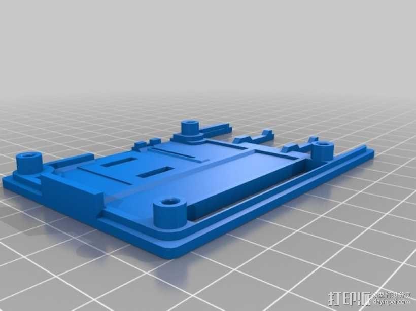 RasPi B+电路装置外壳 3D模型  图3