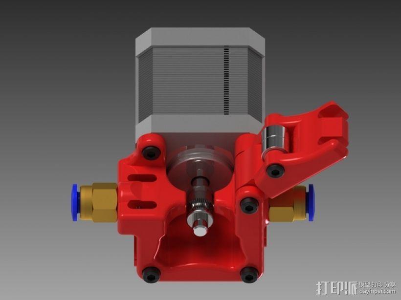 3D鲍登挤出机  3D模型  图1
