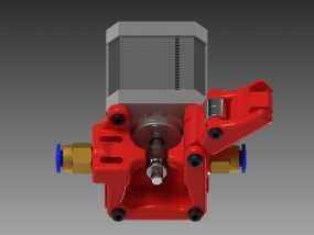 3D鲍登挤出机  3D模型