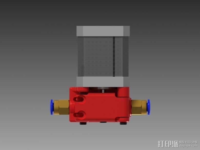 3D鲍登挤出机  3D模型  图8