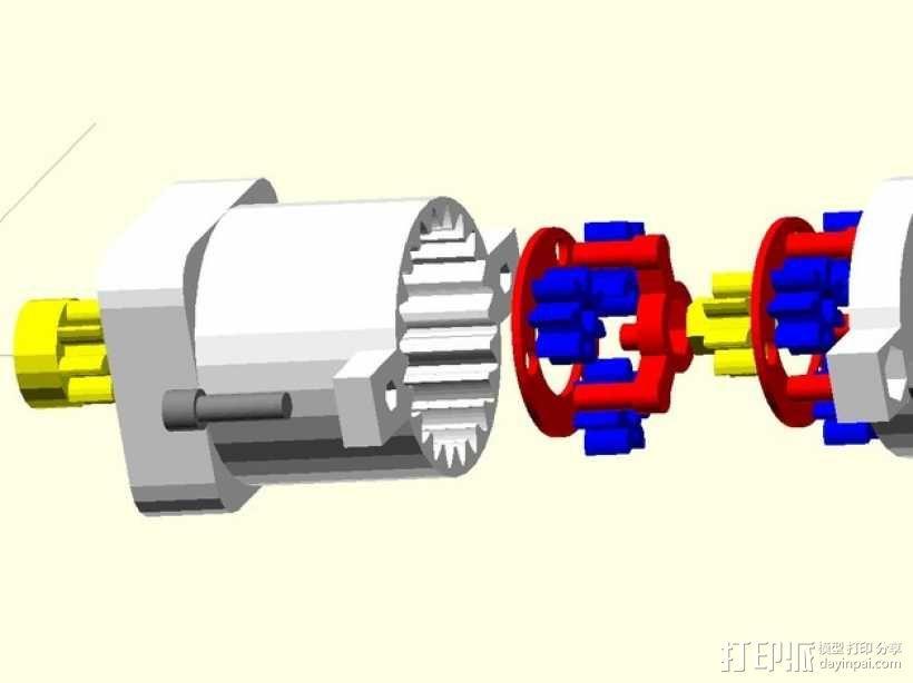 参数化行星齿轮箱 3D模型  图1