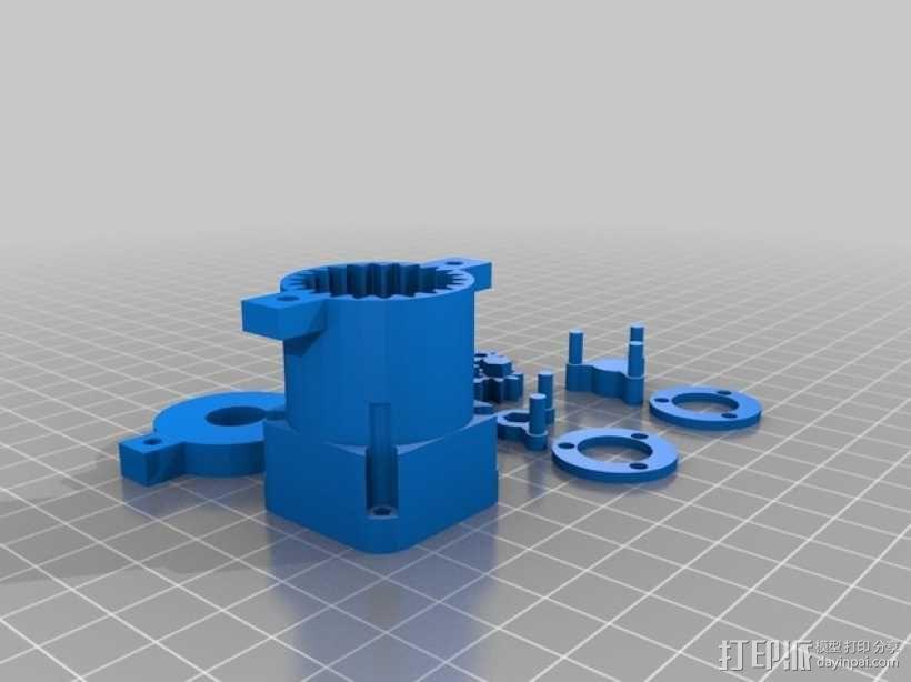 参数化行星齿轮箱 3D模型  图3