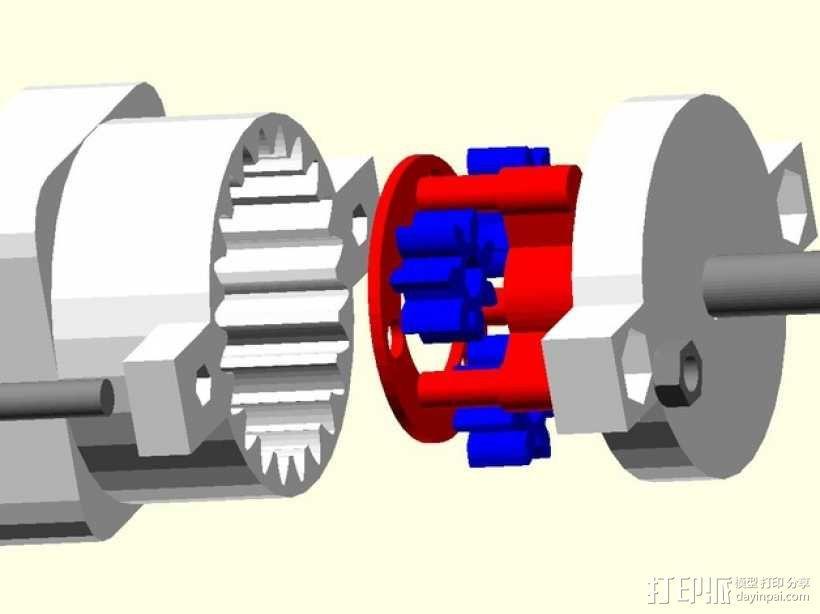 参数化行星齿轮箱 3D模型  图6
