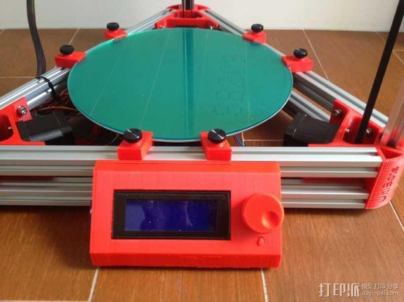 Kossel 3D打印机 3D模型  图30