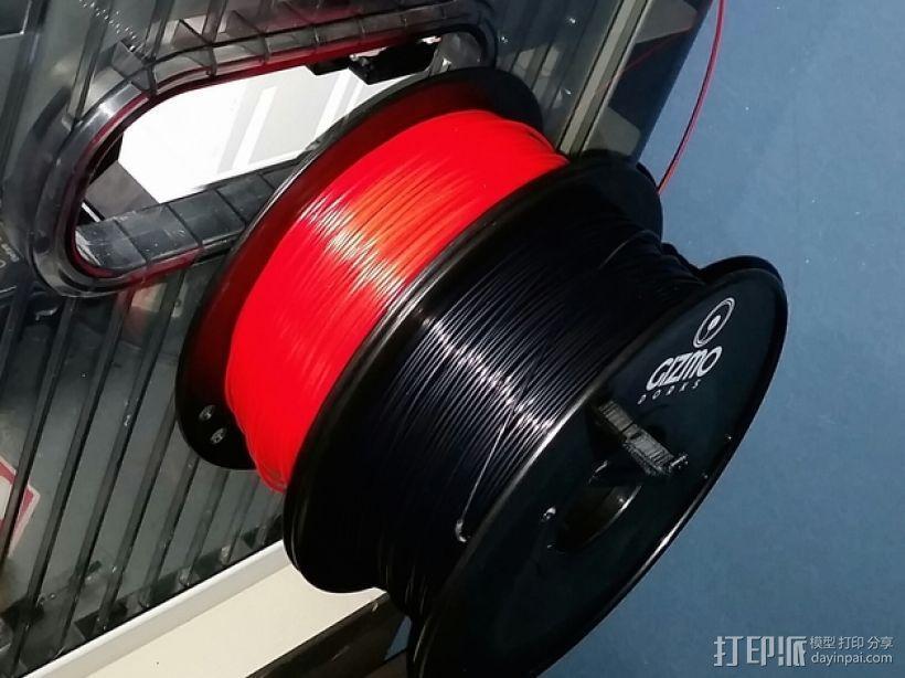三纬国际Da Vinci 1.0 3D打印机线轴 3D模型  图1