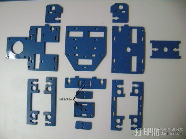 Prusa i3 3毫米钢材激光切割机 3D模型  图13