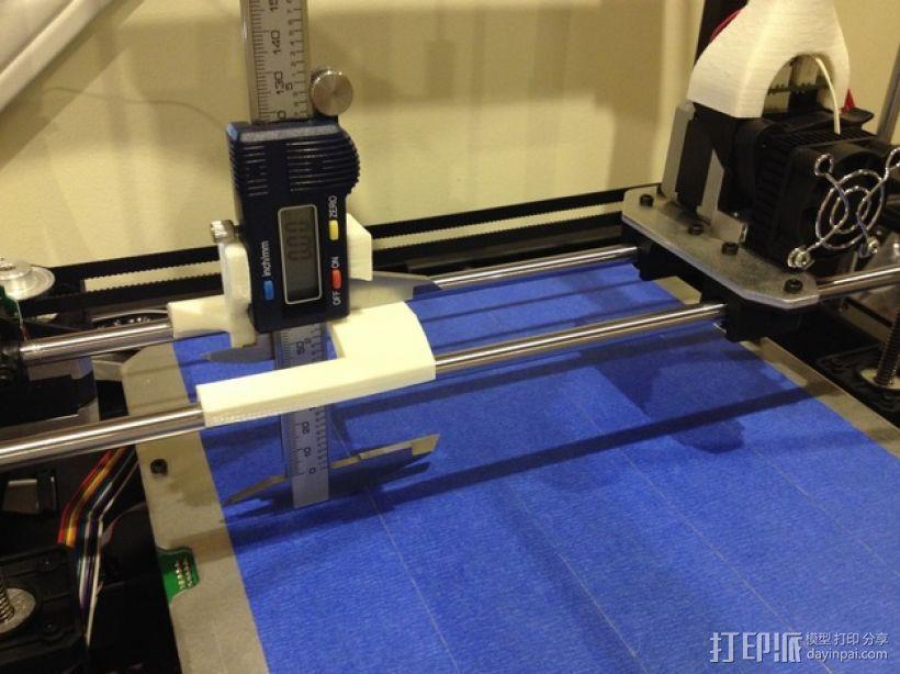 数字化卡尺测量夹具 3D模型  图1