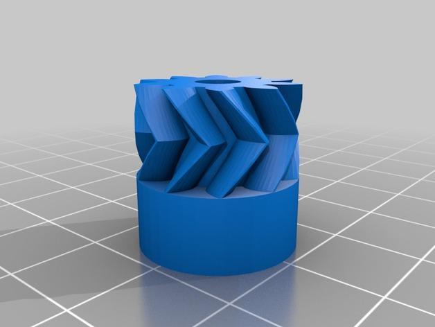 挤压机齿轮 3D模型  图2