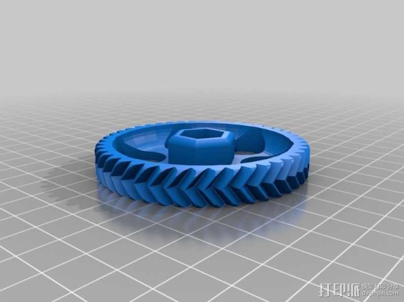 挤压机齿轮 3D模型  图3