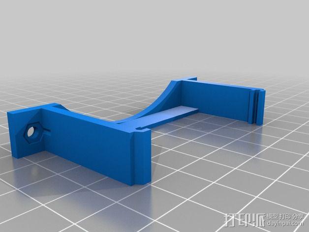 MOAB电路板风扇支架 3D模型  图2