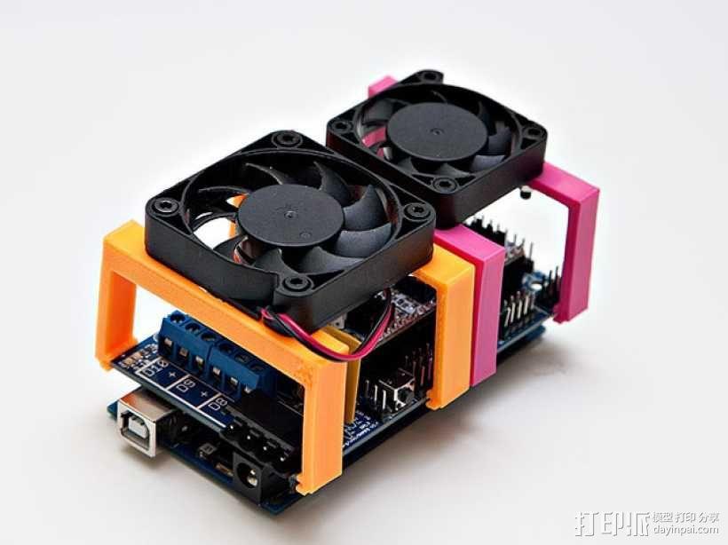 MOAB电路板风扇支架 3D模型  图1