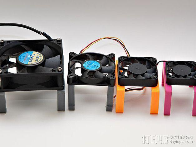 MOAB电路板风扇支架 3D模型  图3
