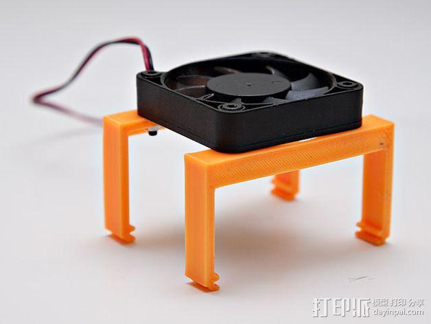 MOAB电路板风扇支架 3D模型  图8