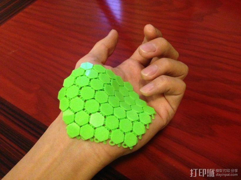 六边形锁子甲 3D模型  图1