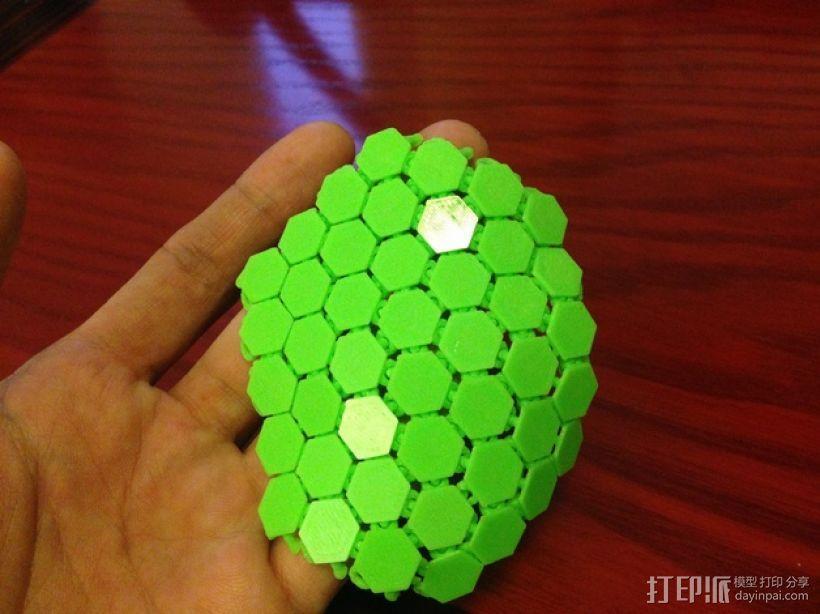 六边形锁子甲 3D模型  图3