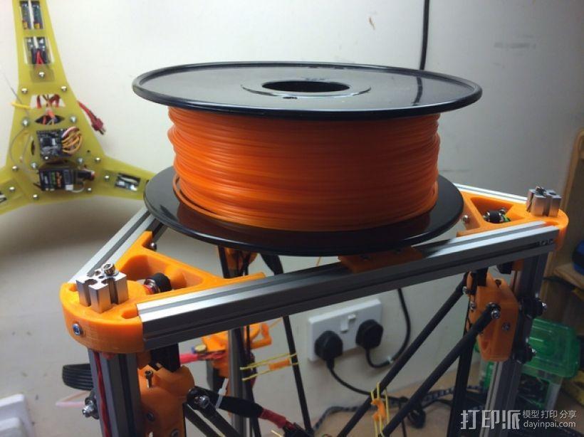 Kossel Mini 3D打印机线轴架 3D模型  图7