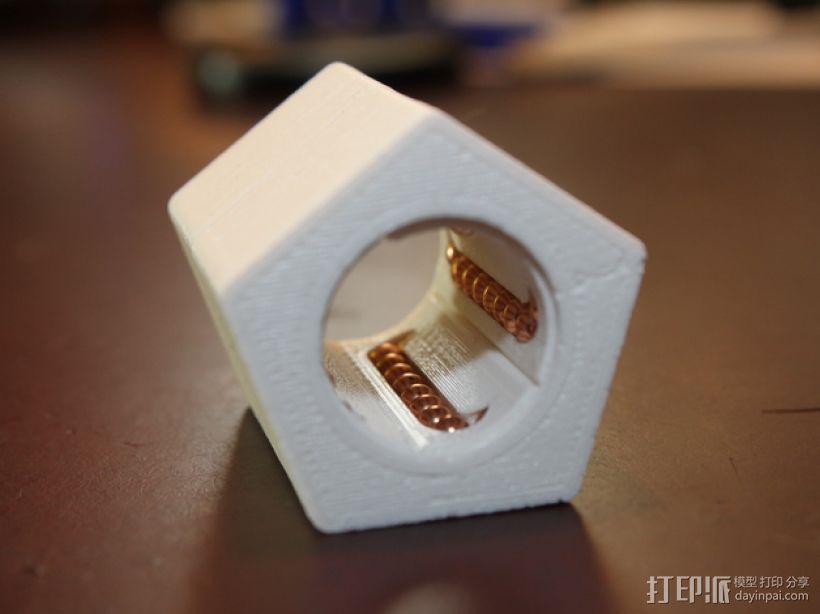 16毫米管状线性轴承 3D模型  图1