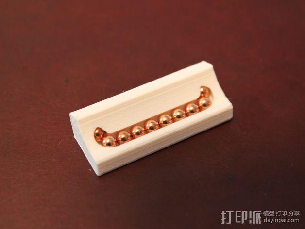 16毫米管状线性轴承 3D模型  图4