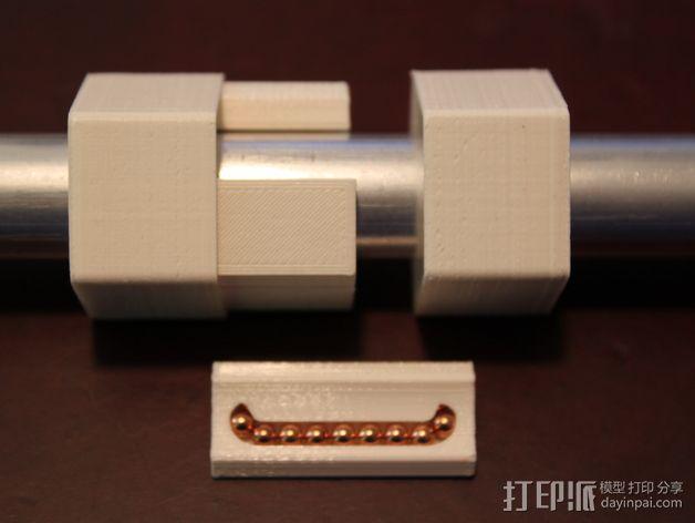 16毫米管状线性轴承 3D模型  图3