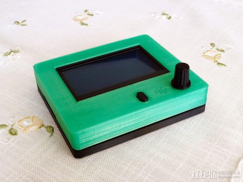 智能图形LCD控制器外壳 3D模型  图1