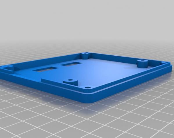 智能图形LCD控制器外壳 3D模型  图5