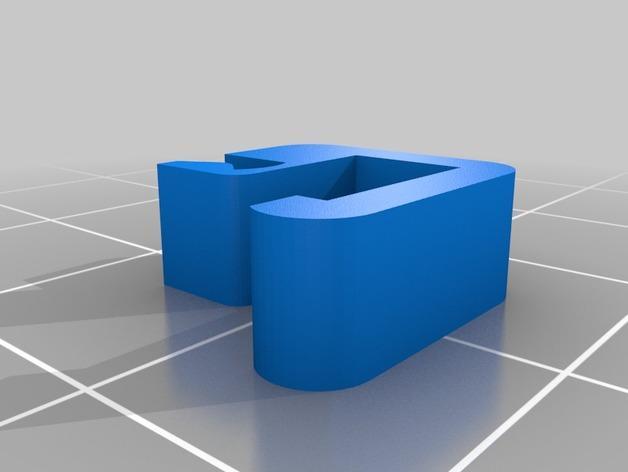 1.75毫米线轴固定夹 3D模型  图2