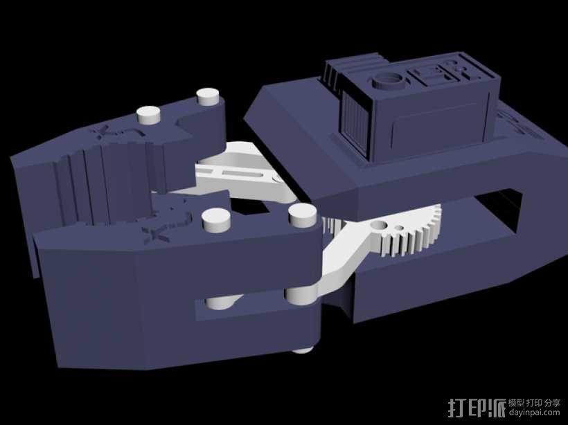HD-7爪形器具 3D模型  图1