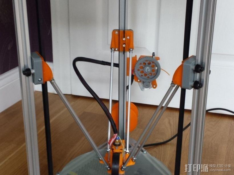 Cherry Pi 3D打印机线轴架/布线环 3D模型  图1