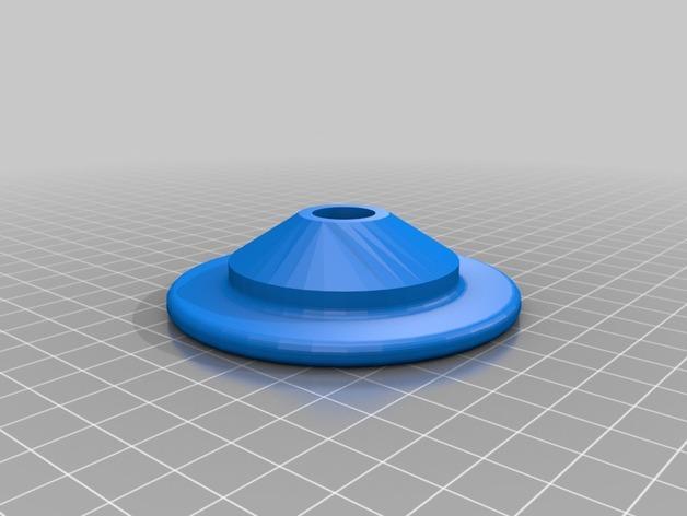 Cherry Pi 3D打印机线轴架/布线环 3D模型  图3