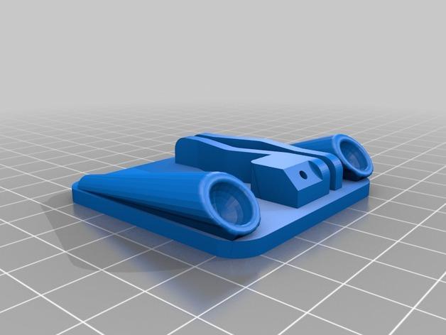 Cherry Pi 3D打印机线轴架/布线环 3D模型  图6