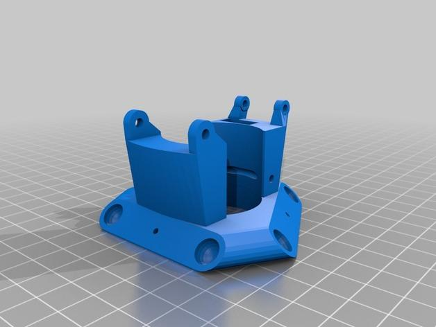 Cherry Pi 3D打印机线轴架/布线环 3D模型  图7