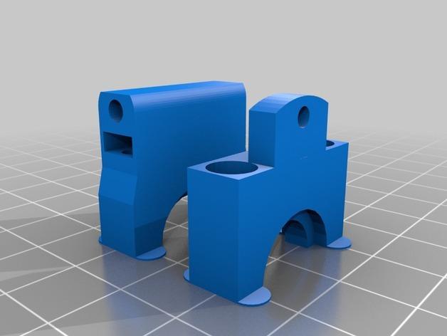 Cherry Pi 3D打印机线轴架/布线环 3D模型  图8