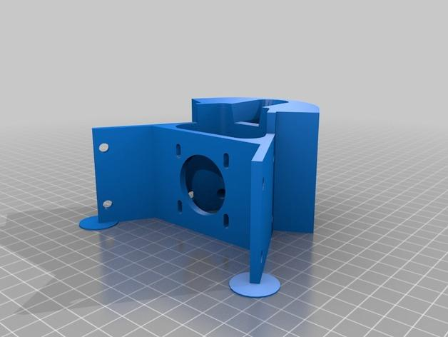 Cherry Pi 3D打印机线轴架/布线环 3D模型  图10