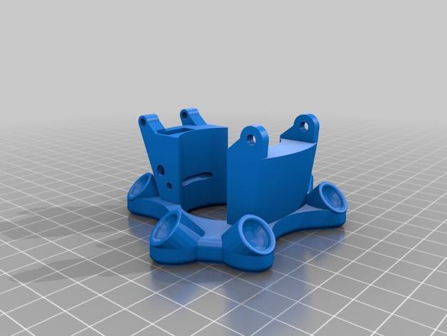 Cherry Pi 3D打印机线轴架/布线环 3D模型  图11