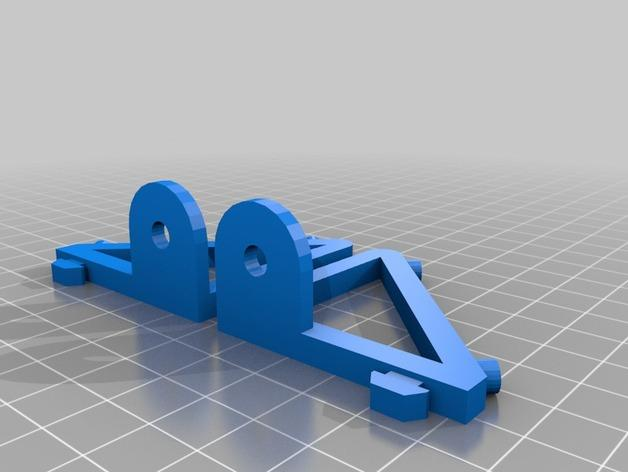 Cherry Pi 3D打印机线轴架/布线环 3D模型  图15