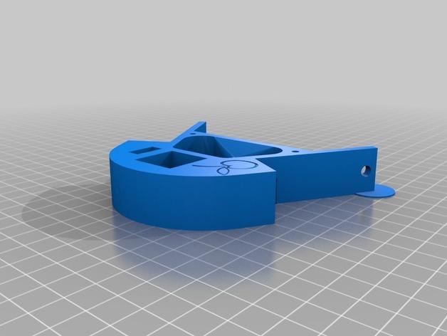 Cherry Pi 3D打印机线轴架/布线环 3D模型  图14