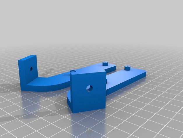 Cherry Pi 3D打印机线轴架/布线环 3D模型  图20