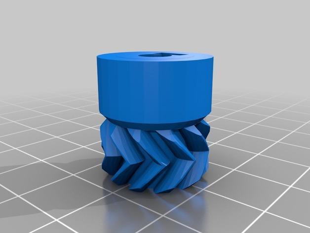 Cherry Pi 3D打印机线轴架/布线环 3D模型  图22